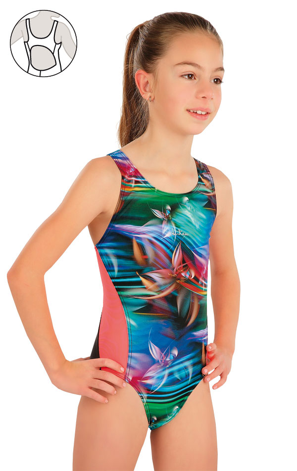 Mädchen Sport Badeanzug. 57588   Kinder Badeanzüge LITEX