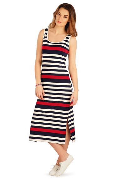 Kleider, Röcke, Tuniken > Damen lang Kleid ohne Ärmel. 5A043