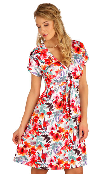 Kleider, Röcke, Tuniken > Damen Kleid kurzarm. 5B087