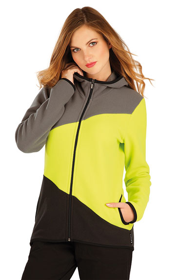 Sale > Fleece Damen Sweatshirt mit Kapuzen. 60514