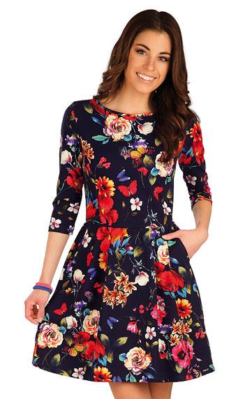 Kleider, Röcke, Tuniken > Damen Kleid mit 3/4 Ärmeln. 7A008