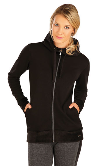 Sweatjacken, Jacken, Westen > Damen Sweatshirt mit Kapuzen. 7A089